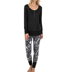 NWT Josie by Natori Fireside Henley Pajama Set M
